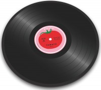 Glasschneideplatte Vinyl Tomato Ø30cm