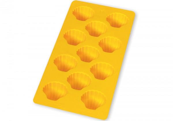 Eiswürfelbehälter, Muschel, gelb