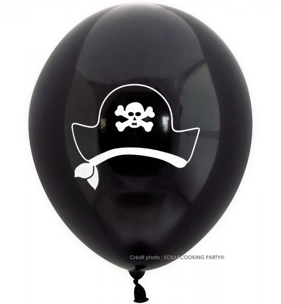 Luftballons Pirat, 6 Stk. Ø25cm