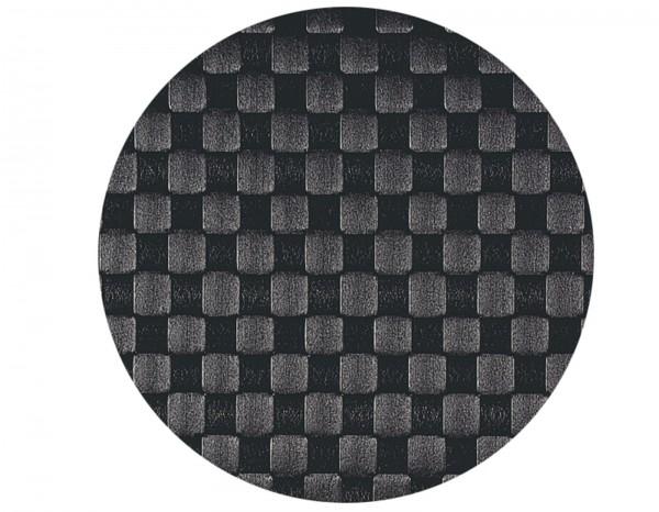 PP-Tischset gewebt, rund, schwarz, Ø 36 cm