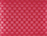 PP-Tischset gewebt, eckig, rubinrot, 30x40 cm