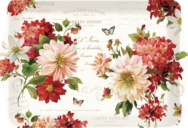 Season Flowers Tablett m. Griffen 46x32 cm