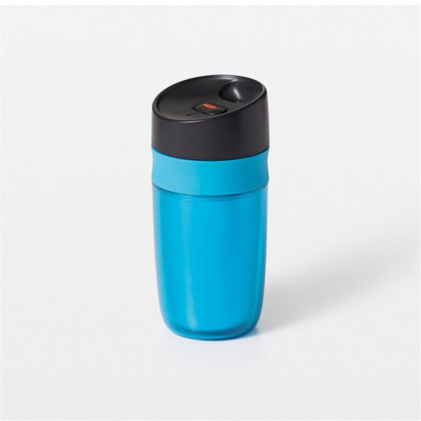 Single Travel Mug doppelwandig, blau, 0.28 lt
