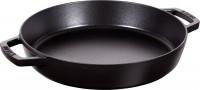 Kasserolle m. Griffen rund, schwarz, Ø34 cm, H: 6 cm