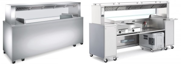 Beleuchtung mit 7 LED-Spots zu Frontcooking-Station BC FS 3
