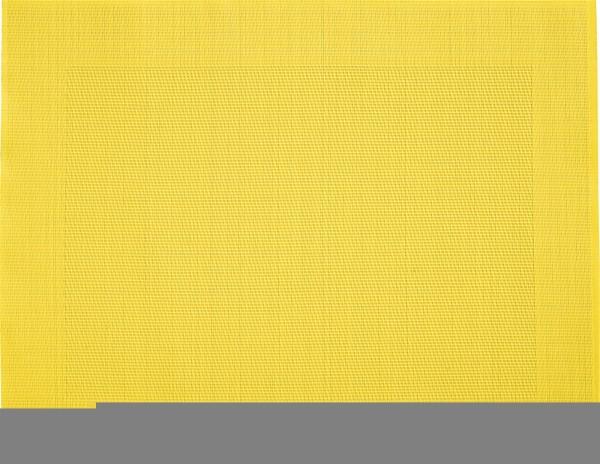 """Tischset """"Rahmen"""", eckig, gelb, 32x42 cm"""