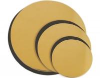 Set 6er Untersetzer für Kuchen gold/schwarz Ø 14/ 18/ 22cm