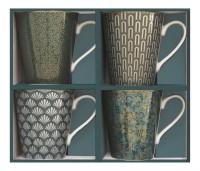 "Coffee Mania 4er Set Kaffebecher in GB, ""Turquois"", 300ml"