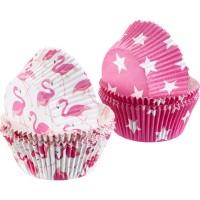 80 Muffin Papier-Backförmchen, »Flamingo + Stern«
