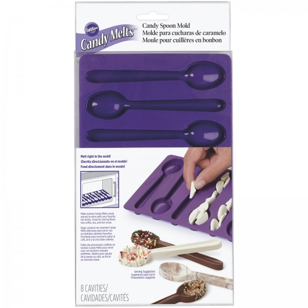Candy Mold 8er Löffelform, violett