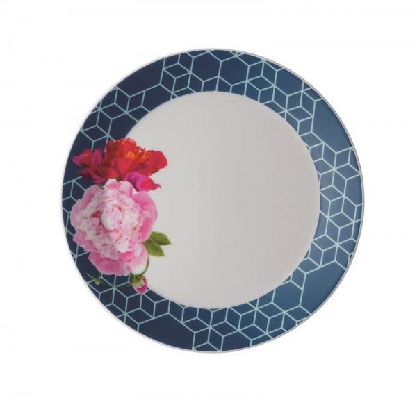 TRIC/Vivid Blue Floral Frühstücksteller 22 cm