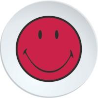 Smiley Speiseteller, grapefruit/weiss 25 cm