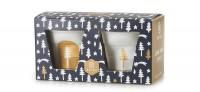 Geschenkset, 2er Espresso Knitterbecher, Tannenbaum