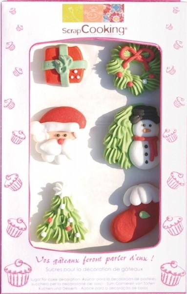 Zuckerfiguren, Weihnachten 6 Stk.