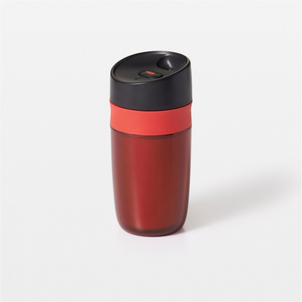 Single Travel Mug doppelwandig, rot, 0.28 lt