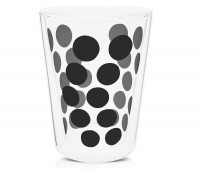 Dot Dot Teeglas schwarz, doppelwandig 35 cl