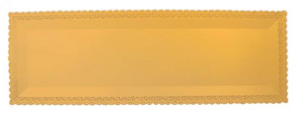 Kuchenplatte rechteckig 1 Stk., gold, Kunststoff, 40x13 cm