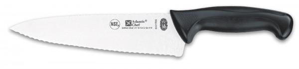 Atlantic Chef Kochmesser mit Wellenschliff 21cm schwarz