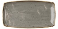 Stonecast Grau Platte rechteckig 35x18.5cm