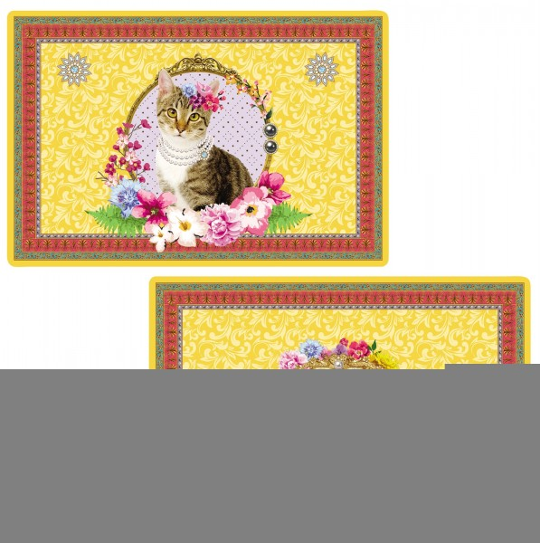 """Fancy Animals """"Katze"""" Tischset doppelseitig 45x30 cm"""