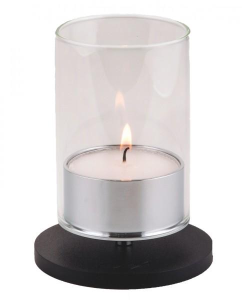 Kerzenhalter iNORAMA 101, D:9.5cm schwarz, ohne Glaszylinder
