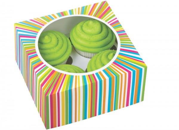 Cupcake Box für 4 Stück, Farbkreis