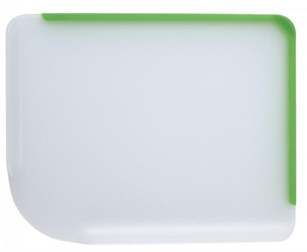 18x Schneidebrett mit Giessrand, grün, 33.8x26.5x2.5 cm