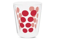 Dot Dot Kaffeeglas rot, doppelwandig 20 cl
