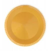 Kuchenplatte rund 1 Stk., gold, Kunststoff, Ø 32 cm