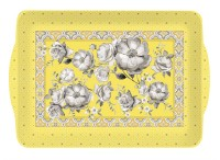 Trend & Colour Tablett m. Griffen, gelb, 33x22 cm