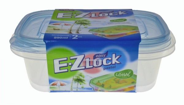 EZ Lock rechteckig, Set à 2 Stk 890 ml