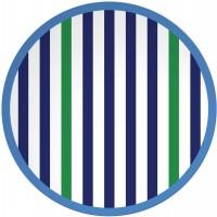 Riviera Bright Salat Teller Ø 20,5 cm, 4-er Set, blau/weiss