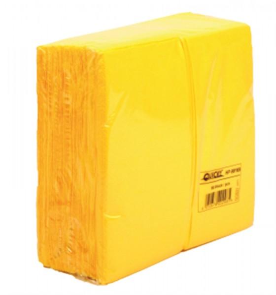 1'280 Stk. Servietten gelb 33x33cm 2-lagig 1/8 Falz