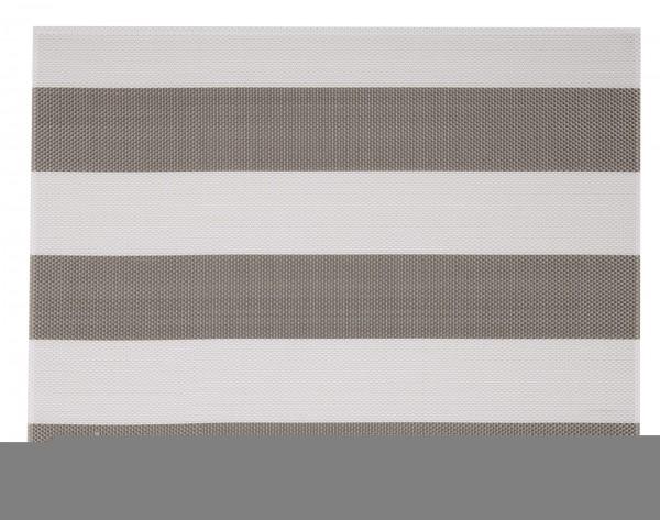 """Tischset """"Stripes"""", eckig, beige/weiss, 32x42 cm"""