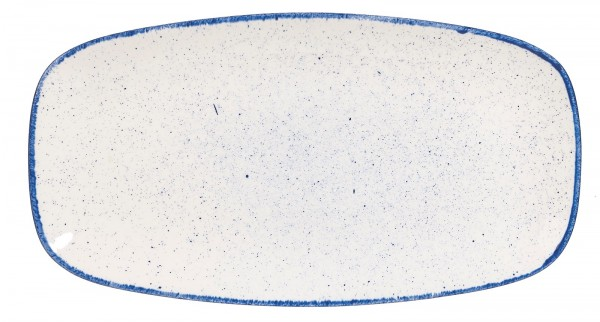 6x Stonecast Hints Indigo Blue Platte rechteckig 35.5x18.9cm