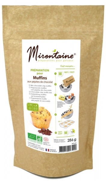 BIO Chocolate Chip Muffins Backmischung, 285 g