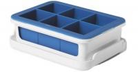 Eiswürfelbehälter gross mit Rahmen, blau, 20x13x6 cm