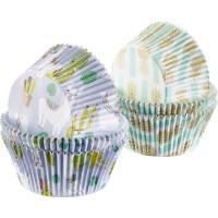 80 Muffin Papier-Backförmchen, »Lama + Ananas«