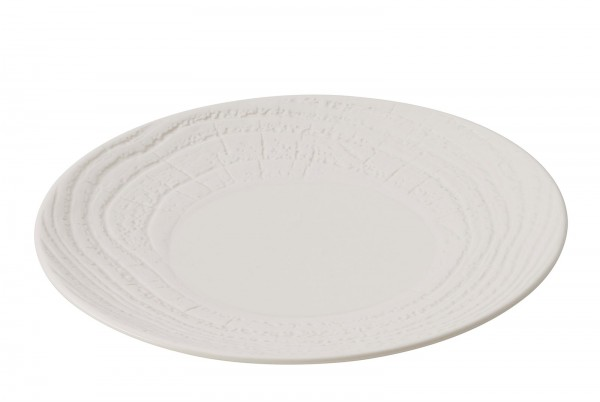 Dessertteller, H: 2 cm, Ø 21.5 cm, Elfenbein