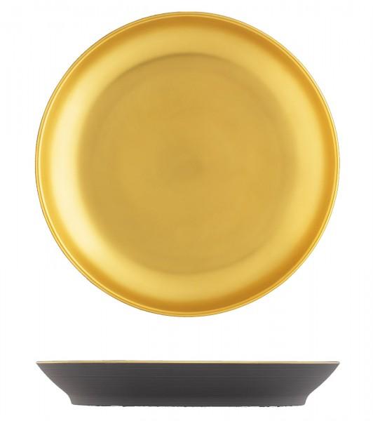Omnia Frühstücksteller anthrazit gold ø19cm