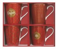 "Coffee Mania 4er Set Kaffebecher in GB, ""Red"", 300ml"