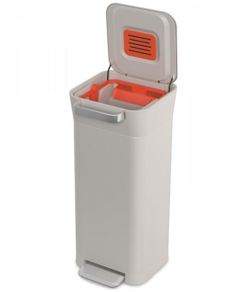 Titan Slim Recycling Station Stone, Kunststoff/Edelstahl