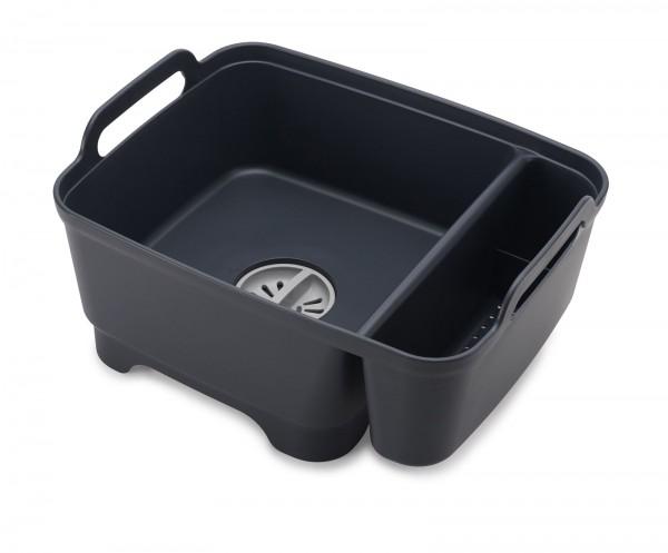 Wash&Drain Waschbehälter mit Ablagefach, grau, 39.2x20.2x30.