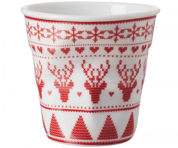 6x Cappuccino Knitterbecher 18 cl, Woody