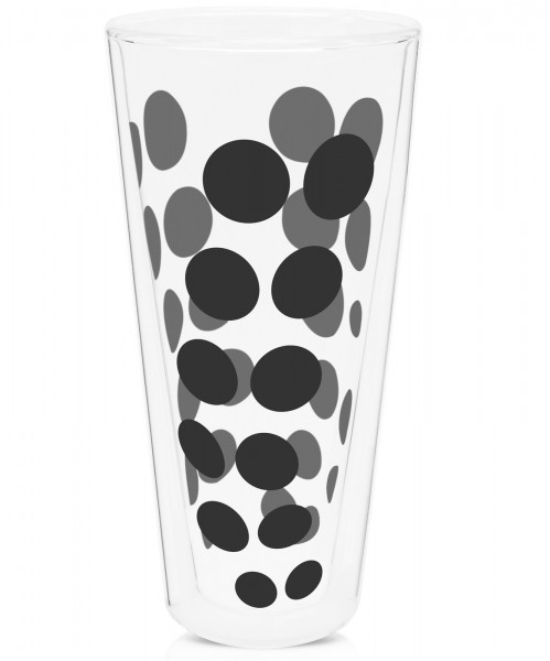 Dot Dot Latte Macchiato schwarz, doppelwandig 35 cl