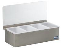Zutatenbox Edelstahl mit 4 Behälter 30x14x9cm