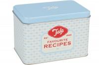 Aufbewahrungsdose für Rezepte m. 20 Rezeptkarten, blau