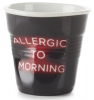 """Cappuccino Knitterbecher 18 cl, Neon """"Allergic to Morning""""-Copy"""