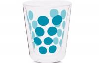 Dot Dot Kaffeeglas aqua blau, doppelwandig 20 cl