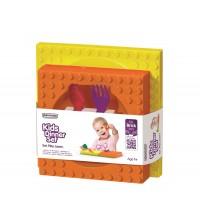 Lego 4-tlg. Geschenkset, gelb/orange/rot/violett